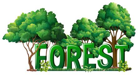 Font design for word forest