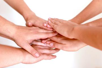 Hände einer Gemeinschaft