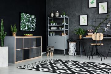 Room corner of modern flat