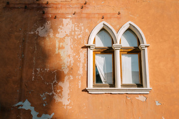 Mullioned windows of the old house