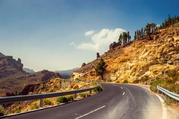 Highland highway in Tenerife, Canary Island, Spain