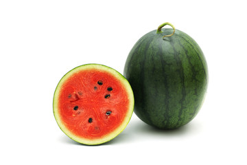 Watermelon Ripe and tasty isolated on white background
