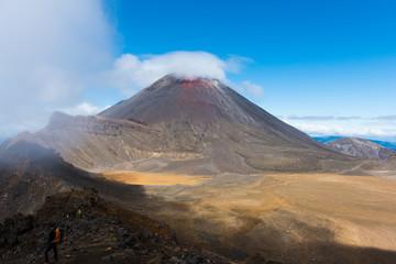 Fond de hotte en verre imprimé Volcan Mount Ngauruhoe in the Tongariro National Park, New Zealand