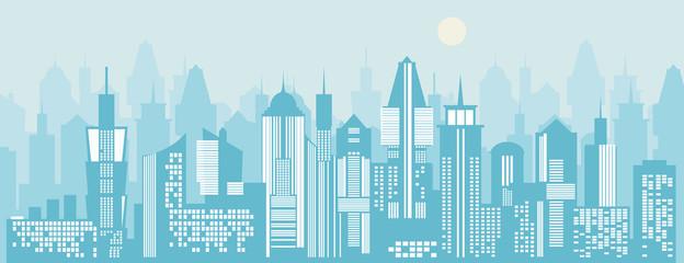 Cityscape background. Vector illustration