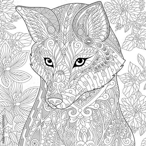 complex coloring pages nature cat - photo#10