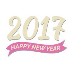 Grusskarte zu Neujahr mit Jahreszahl 2017