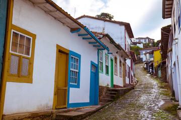 Photo sur Toile Chypre streets of the historical town Ouro Preto Brazil