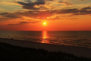 Morze Bałtyckie, zachód słońca