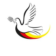Friedenstaube mit Flagge Deutschland_1.0.1