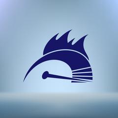 High speed burning symbol icon
