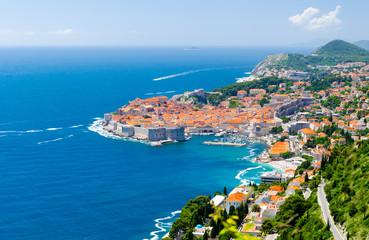 Słynny widok na Stare Miasto w Dubrowniku w Dalmacji, Chorwacja