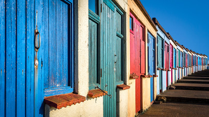 Beach cabins in Bude