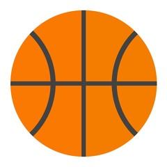 Orange basketball ball vector illustration.