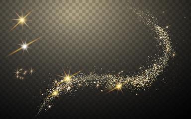 golden light streak