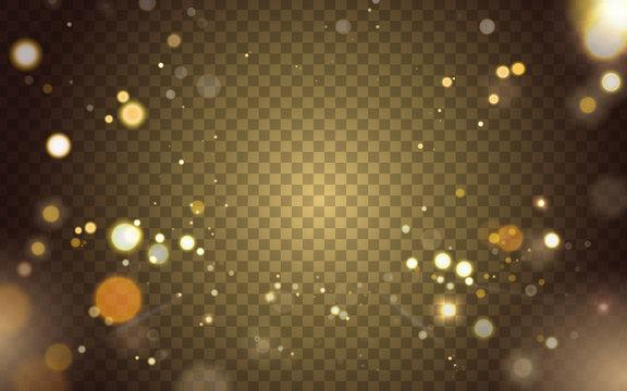 blurred light elements