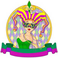 Mardi Gras Harlequin Design