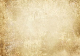Old grunge yellowed paper texture.