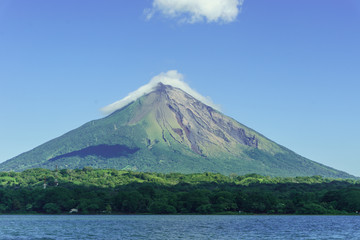 Volcano Concepcion from Ometepe Island, in the lake cocibolca, Nicaragua