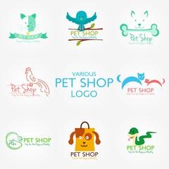 Pet Shop Logo Design Template. Vector Illustration