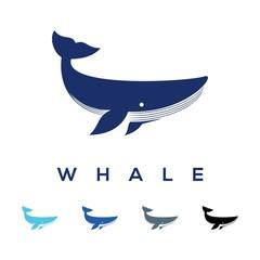 Simple Whale Design Logo Vector