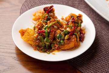 kkanpung saeu, Deep-fried Shrimp in Hot Pepper Sauce, 깐풍새우