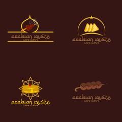 Arabic Restaurant Logo Design Template. Vector Illustration