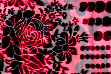 Texture, background, fabric velvet. Of red color