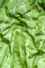 Texture, background. lace fabric green