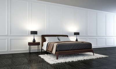The modern interior design of  bedroom