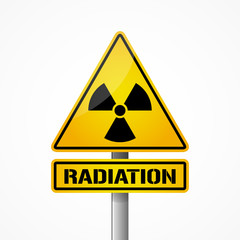 Radiation sign, radioactive icon, vector illustration