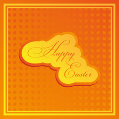 Happy Easter.  Vector illustration for your holiday presentation. Greeting card.