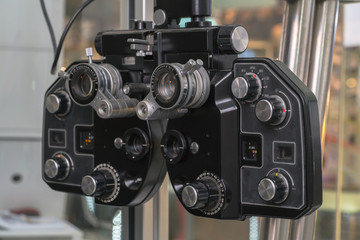 Eye sight vision test machine