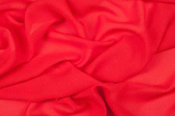 Silk fabric texture, background, red-colored single-colored