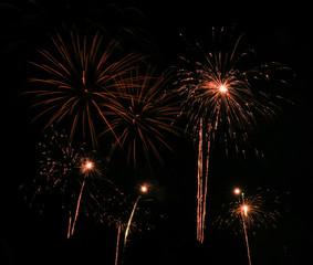 Illustration fireworks at an event.