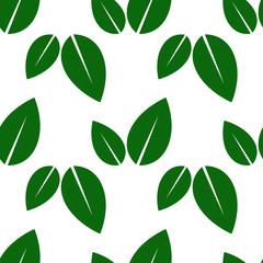 green seamless leaves