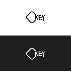 Key Shape Logo. Isolated.