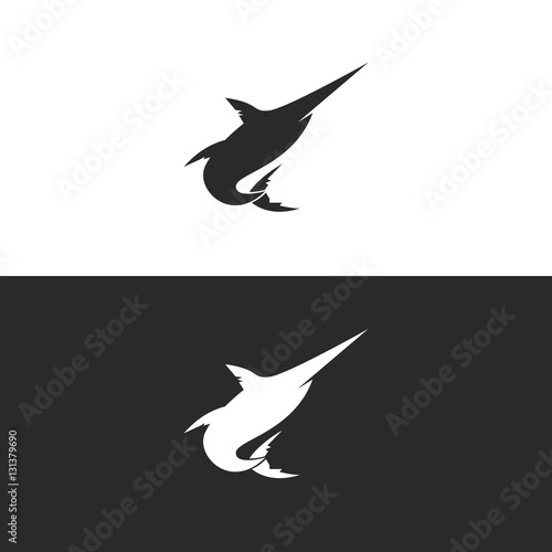 quotblue marlin or swordfish logo silhouette isolated