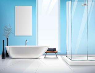 Realistic Bathroom Interior Design