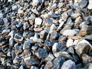 Texture of construction gravel