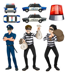 Policeman and robbers set