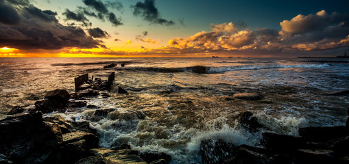 Sunset. Beautiful sunset Black sea. Gold sea sunset. Picture Sea