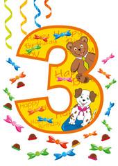 buon compleanno numero 3