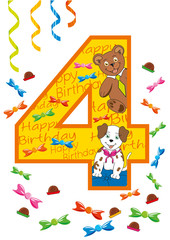 buon compleanno numero 4