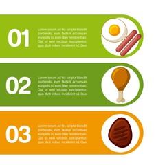 infographic presentation of food. colorful design. vector illustration