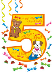 buon compleanno numero 5