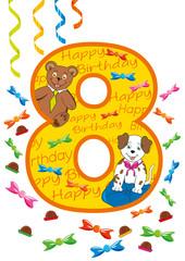 buon compleanno numero otto
