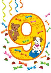 buon compleanno numero 9