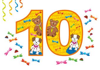 buon compleanno numero 10