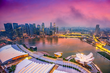 Singapore Marina Skyline