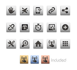 Interface Icons / The vector file includes 4 color versions in different layers.